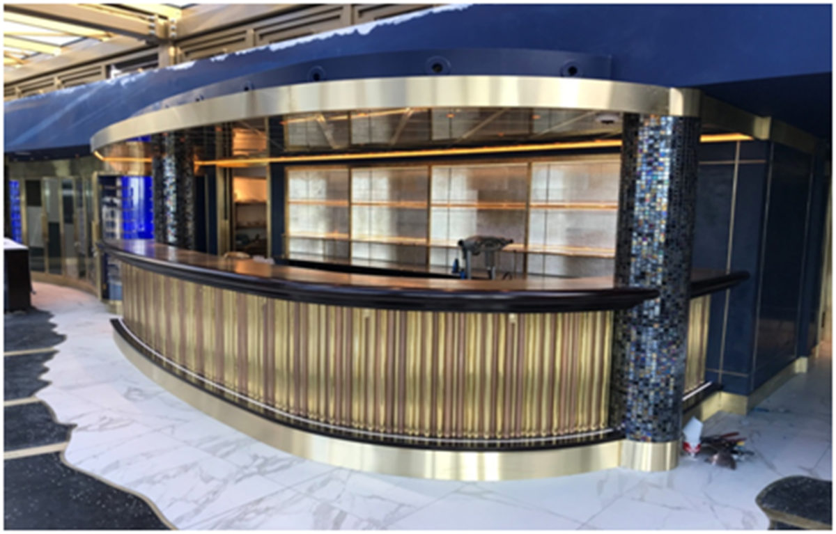 Brass Reception Desk